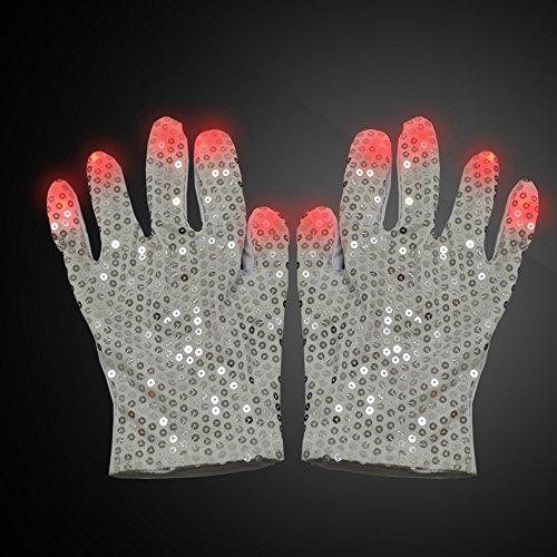 diewu LED Raver Handschuhe-Kostüm zeigen Prop Spielzeug für Jungen Mädchen Geburtstagsparty (Michael (Handschuhe Kostüm Bulk Weiße)