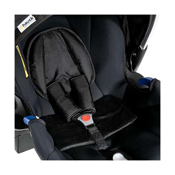Hauck Comfort Fix Set, Lightweight Group 0 Car Seat with Isofix Base, ECE 44/04 from Birth to 13 kg, Side Impact Protection, Safety Indicators, Travel System, Black Hauck NEW-BORN CAR SEAT - This comfy car seat with ergonomically shaped carry handle made of aluminium, breathable fabrics, head protection, seat minimizer, and sun hood is suitable from birth up to 13 kg SAFETY - The Comfort Fix car seat is approved to ECE 44/04. With its side-impact protection, tried and tested energy-absorbing foam in head and shoulder area, as well as 3-point harness, it has also received best crash test results by ADAC (2.1) TRAVEL SYSTEM - Combine the car seat with hauck pushchairs Rapid 3, Rapid 4, Rapid 4S, Rapid 4X, Atlantic, Maxan 3, Maxan 4 and their Trios, Duett 3, Rapid 3R Duo without adapters, and Vegas, Lift Up 4 as well as Duett 2 with adapters 21