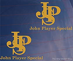 Fenstersticker, 2Stück, JPS John Player Special Formel 1 One Livery