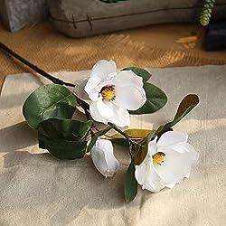 OSYARD Wohnaccessoires & Deko Kunstblumen,Unechte Blumen,Künstliche Magnolia Floral Gefälschte Blumen Wedding Bouquet Home Decor Silk Blumen Haus Garten Party Blumenschmuck Kunstblumen