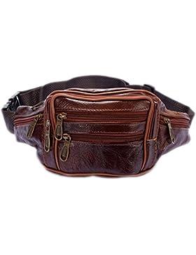 Herren Leder Bauchtasche Tasche