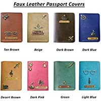 I Love Fashion Faux Leather Personalised Passport Holder for Men & Women