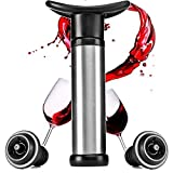 BlueBeach® Bomba de Vino con 2 Tapon de Vino de Vacío