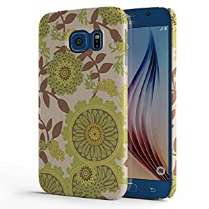 Koveru Designer Printed Protective Snap-On Durable Plastic Back Shell Case Cover for Samsung Galaxy S6 - Flower Art