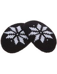 Earbags - Orejeras - para mujer, todo el año, color  - Schneeflocke schwarz, tamaño L