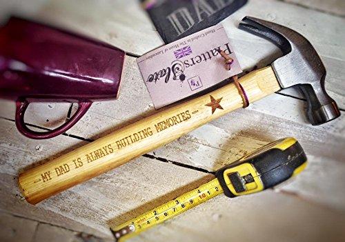 Plateaux Ardoise My Dad est toujours en Construction souvenirs gravé Marteau à panne fendue avec manche en bois, noir, 33 cm