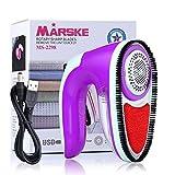 MARSKE Elektrischer Fusselentferner, Elektrisch USB Wolle Kleidung Fusselremover/Flusenrasierer/Stoffrasierer/Textilrasierer/Flaum Entferner
