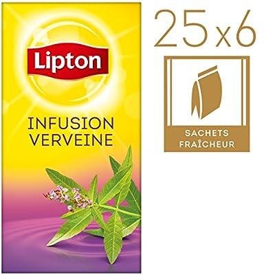 Lipton Infusion Verveine - 25 sachets fraîcheur pour professionnels - Lot de 6 boîtes