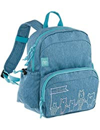 Lässig Medium Backpack About Friends mélange blue Mochila infantil, 30 cm, Azul (Blue)