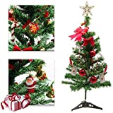 2Ft Christmas Tree Decorations With 36PCS Ornaments And 1PCS 3M 30LEDs USB Multicolor Copper String Lights Xmas Tree For Home Decoration