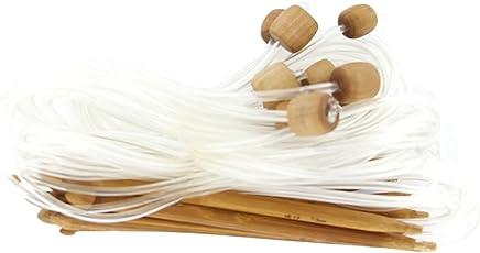 Imported 12 Sizes Afghan Tunisian Carbonized Bamboo Crochet Hooks 3.0-10.0mm