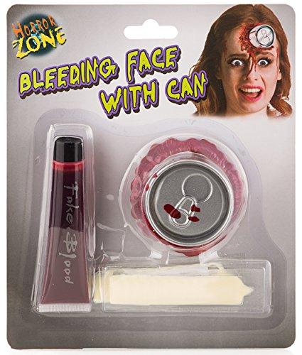 Halloween Makeup: Blutige Dose im Kopf – Spezial-Effekt inkl. Latexmilch Kunstblut und Fake-Dosen-Applikation - Schminke Wunde