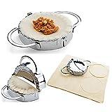 acier inoxydable Romote en acier inoxydable Ravioli moule Dumpling Maker Wrapper Pierogie Pie sertisseur pâtisserie