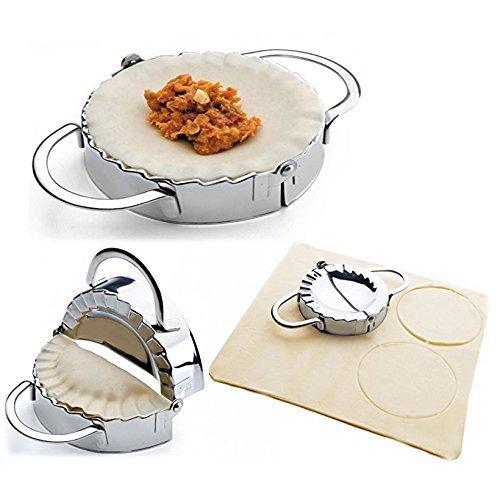 Romote Edelstahl Edelstahl Ravioli Mold Dumpling Maker Wrapper Pierogie Pie Quetschen Gebäck