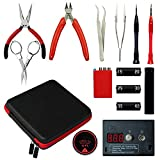 Master 6 in 1 DIY tragbar Coil Jig Tool Kit mit Ohm Meter, Gewundenen Tools Set mit Keramik Pinzette & Vise für RDA (DIY Tool Kit) (Stil-1)