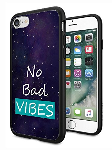 matcase für iPhone 7 Fall iPhone 8 Fall - Good Vibes Nur Galaxy Space Nebel Muster Hard Transparent Anti Kratzfestigkeit mit vollständiger Schutz TPU Bumper Design-Schutzhülle -