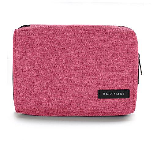 Rosa Tasche Organizer (BAGSMART Elektronische Tasche, Elektronik Organizer Reise für Handy Ladekabel, Powerbank, USB Sticks, SD Karten (Rosa) )