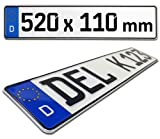 Kfz Kennzeichen / Euro Nummernschild Deutschland - 520mm x 110mm Standardmaß