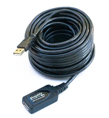 Plugable USB 2.0 10 Meter langes aktives Verlängerungskabel Typ A männlich nach A weiblich (Männlich Weiblich Usb)