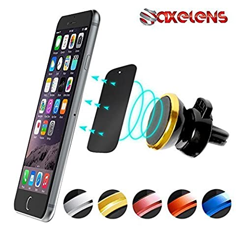BLACK/GOLD - MAGNETIC AIR VENT SUPPORT FOR SMARTPHONES UNIVERSAL CAR