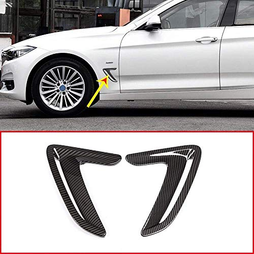Carbon Fiber Style ABS Side Air Vent Fender Hood Cover 2 pcs for 3 Series GT Gran Turismo F34 2013-2018 Auto Zubehör