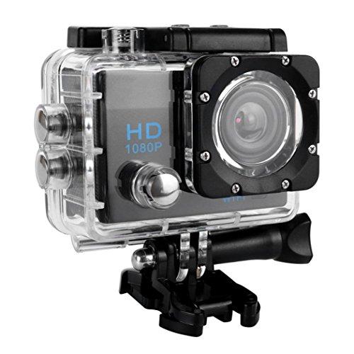 VNEIRW Action Kamera Wifi Sports Cam Action Cam Mit 2 Zoll LCD HD 1080P Action Cam Camera Helmkamera Unterwasserkamera mit Objektiv 170 ° A + HD Weitwinkelobjektiv (2.0 Zoll Anzeige, Schwarz)