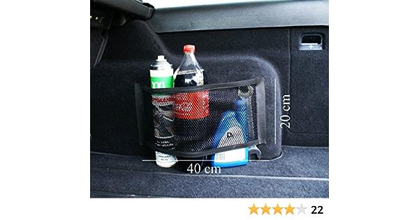Ferocity Universale Netztasche Beutel Mit Klett Haftet An Kofferraum Organizer 40 X 20 Cm 031 2 Auto
