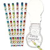 Baker Ross Matite con allegri pupazzi di neve. Set di cancelleria perfetto per riempire calze natalizie e sacchetti regalo per feste di bambini (confezione da 8)