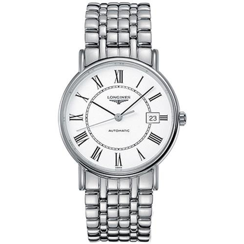Longines Presence Mens 38 mm Automatic Movement, Mineral Glass Date Watch L49214116