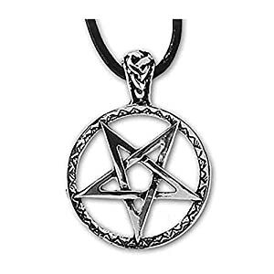 Anhänger umgedrehtes verziertes Pentagramm Silber Schmuck etNox – Schutz – 460