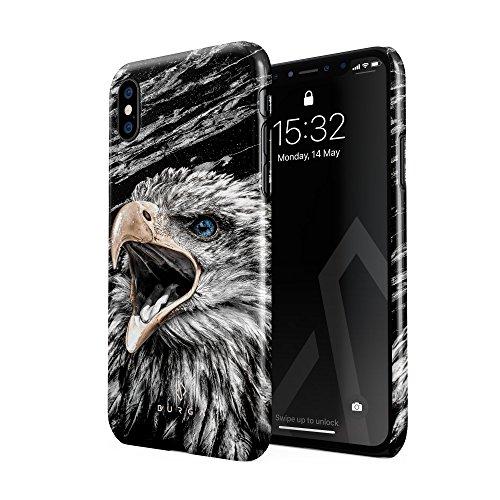 BURGA Hülle Kompatibel mit iPhone X/iPhone XS Handy Huelle Vogel Wild Adler Eagle Savage Dünn, Robuste Rückschale aus Kunststoff Handyhülle Schutz Case Cover