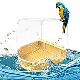 True-Ying True-Ying Papagei Badewanne Korrosionsbeständiges Wasserdichtes Glattes Vogelkäfig Zubehör Papagei, Vogeltank, Vogelkäfig, Badewanne, Dusche, Vertikaler Kasten, Toilette