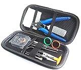 Zigaretten-V2-Werkzeug-Set mit multifunktionaler Pinzette aus Keramik, Wickelhilfe, Draht, für DIY-Zerstäuber–RDA/RTA/RBA, schwarz
