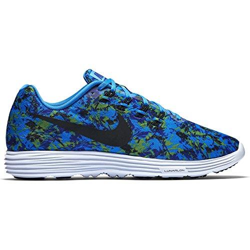 Nike Lunar Tempo 2 Print, Chaussures de Running Compétition Homme Bleu - Azul (Pht Blue / Blk-Cncrd-Elctrc Grn)