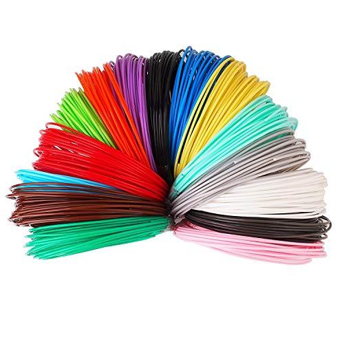 3D Stift Filament 24 Farben 3M PLA Filament 1.75mm 3d stifte farben für 3D Stift, kompatibel mit ODRVM, Tipeye, Uvistare, Lovebay, PLUSINNO, QPAU, Canbor, Juboury, Nexgadget und dikale 3d Pen 3D Druckstift von MKOEM - 4