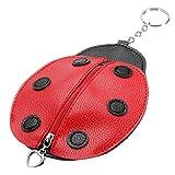 GOZAR Polyurethan Leder Schlüssel Tasche Marienkäfer Form Schlüsselanhänger Niedlichen Schlüsselanhänger Shop Schlüssel