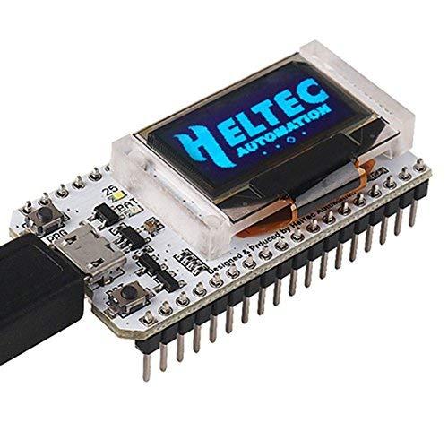 MakerHawk ESP32 Entwicklungs-Brett WiFi mit 0.96inch OLED Anzeige WiFi Kit32 Arduino kompatibles CP2012 für Arduino Nodemcu (Anzeige Brett)