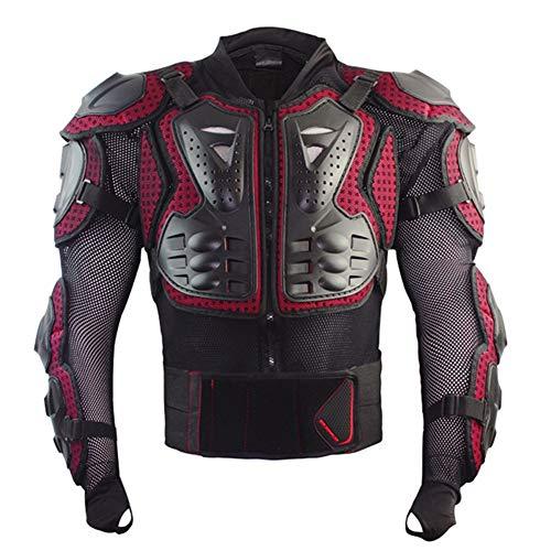 Lycra-hemd (EISHC Motorrad Protektorenjacke Schutzjacke Hemd Stretch Lycra Mesh Verstellbarer Schultergurt, Gürtel für Motorrad ATV Mountain Radfahren Scooter MTB,XXXL)
