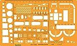 Liquidraw Architektur-Schablone im Maßstab 1:50, Lineal, Zeichenschablone, technisches Skizzenzubehör, Architektur, Möbeldesign-Symbole für die Inneneinrichtung und Grundriss