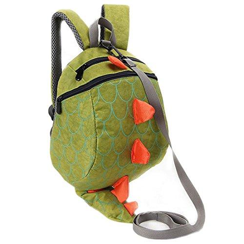 Kinder Rucksäcke Kleinkind Schule Taschen Dinosaurier Kinder Daypacks Jungen Mädchen Anti verloren (Grün) -