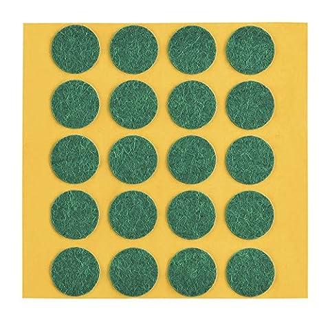 peha® Filzgleiter / Kratzschutz für Vasen und Deko-Gegenstände selbstklebend, SOFT - 1,0 mm stark, grün | Ø 15 mm (20 Stk.)