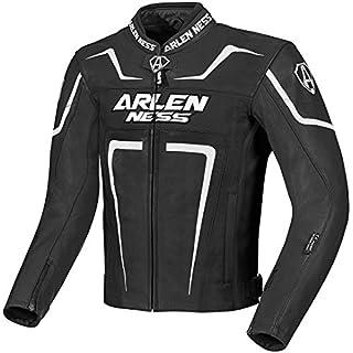 Arlen Ness Motegi Motorrad Lederjacke 50 Schwarz/Weiß