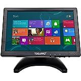 Toguard 10.1 Zoll IPS Bildschirm Color Ultradünn HD 1280*800 Video Monitor Display BNC/AV/HDMI/VGA/USB Video Input Kopfhörer Output Monitor, Bildschirm mit 175° Betrachtungswinkel, eingebauter Lautsprecher