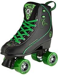 KRF Getty patines de ruedas, Retro, negro/verde, Talla 38