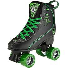 KRF Getty patines de ruedas, Retro, negro/verde, Tamaño 39