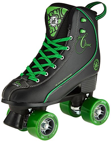 KRF Getty patines de ruedas, Retro, negro/verde, 36