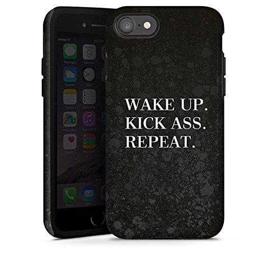 Apple iPhone X Silikon Hülle Case Schutzhülle Fitness Motivation Spruch Tough Case glänzend