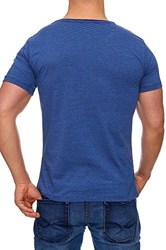 Tazzio Herren Rundkragen T-Shirt 17109 Indigoblau