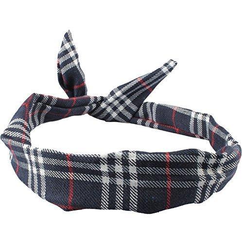 Lizzy® Rockabilly-Haarband, mit Draht, verschiedene Designs Gr. Einheitsgröße, Tartan blue