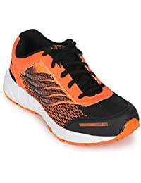 Scantia Stylish & Comfortable Casual Lace-Up Shoes For Men ( Colour : Black:Orange )